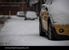 Yellow car in DUMBO, Brooklyn