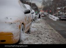 Yellow cab in Brooklyn