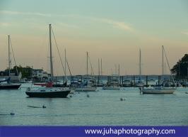 sailboat at the Greenwich harbor